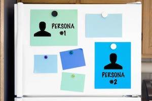 Fridge with 2 buyer persona profiles
