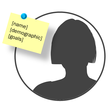 Silhouette of buyer persona