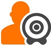 Human icon with lead generation target