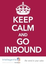 'Keep calm and go inbound' poster