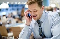 Interuptive telemarketer on telephone